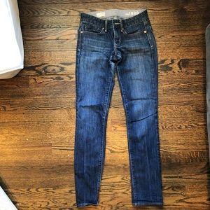 GAP bootcut dark blue jeans, size 00R